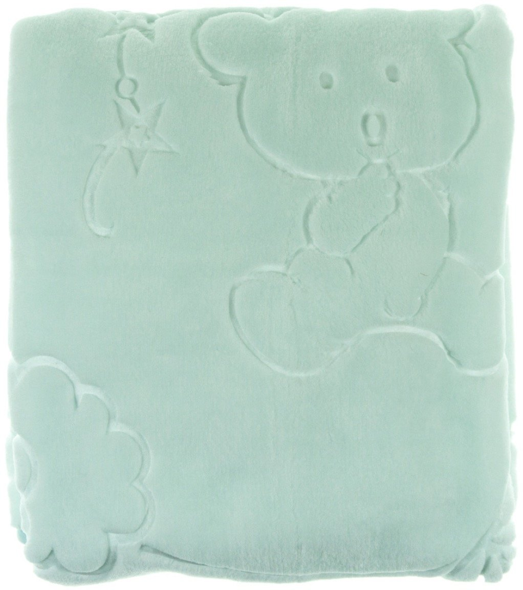 Golden Spring κουβέρτα για παιδικό κρεβάτι (κούνια) «Green Bear»
