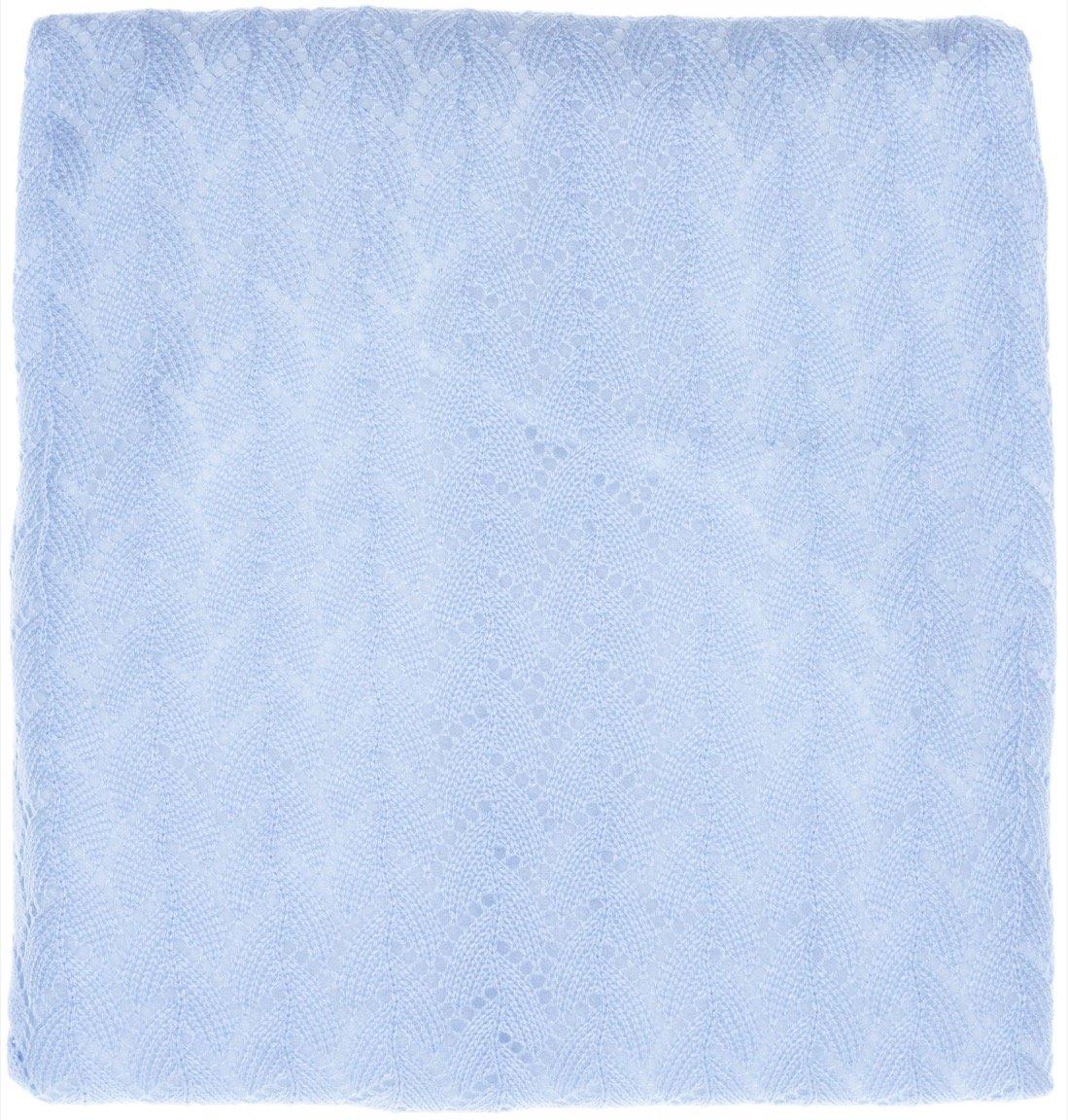 Mizmiz Bebe πλεκτή κουβέρτα για βρεφικό λίκνο «Plain Blue»