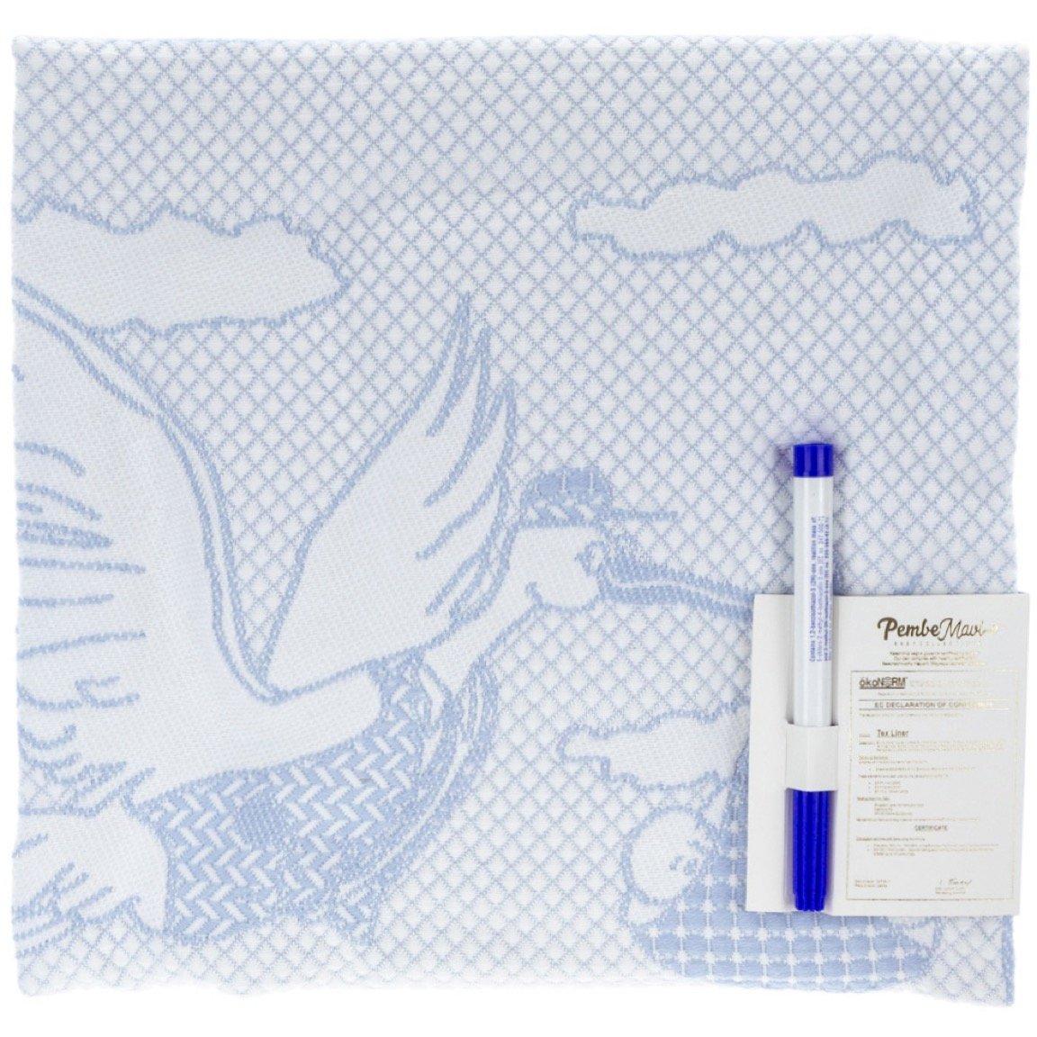 Pembe Mavi εποχιακή κουβέρτα & ανεξίτηλος μαρκαδόρος «Blue Pelican»