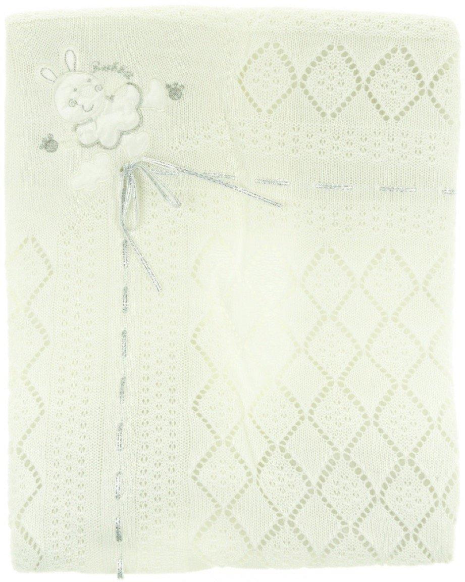 Sansli Triko πλεκτή κουβέρτα για βρεφικό λίκνο «Rabbit»