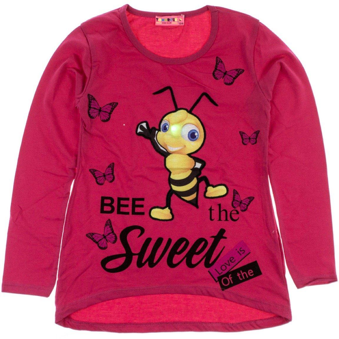 Tomurcuk παιδική εποχιακή μπλούζα με φωτάκια «Sweet Bee»