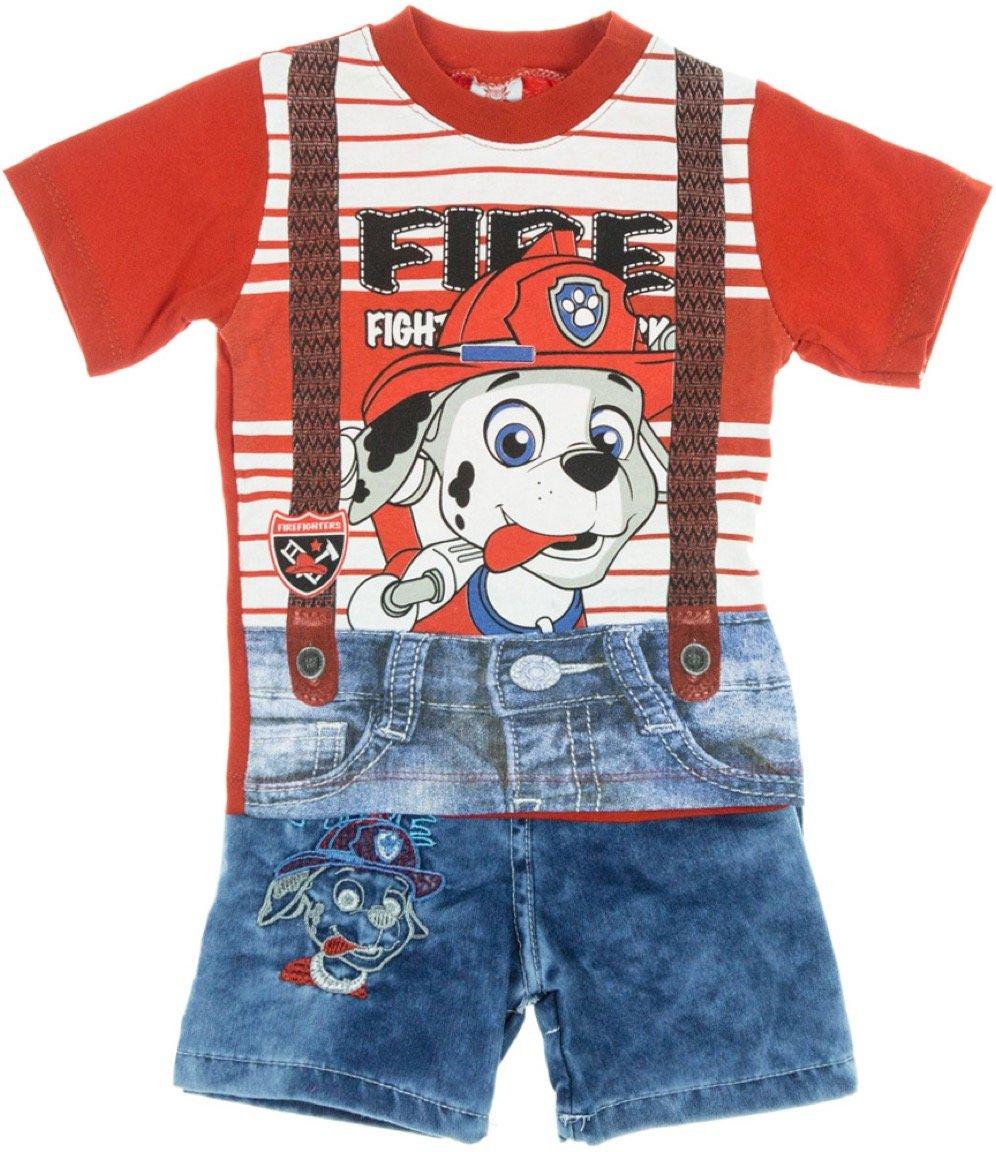 Bombicix παιδικό σετ μπλούζα-παντελόνι σορτς «The Fire Fighter»