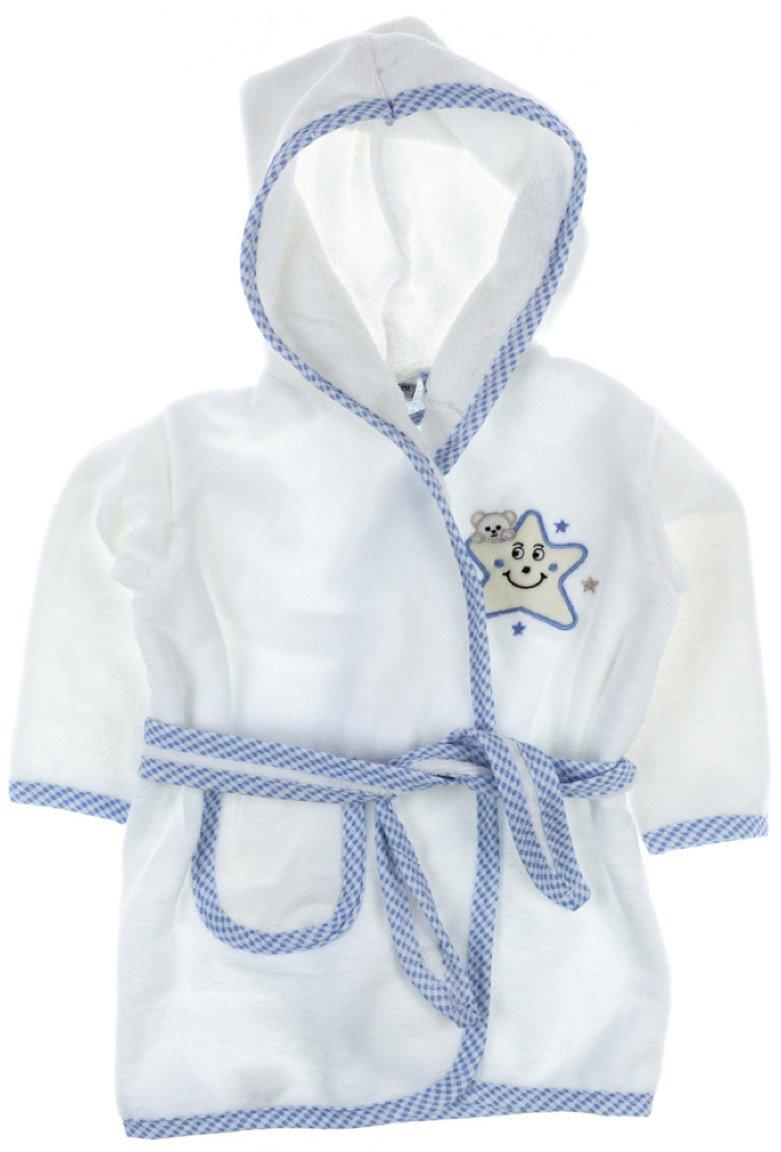 ΑΖ παιδικό σετ μπουρνούζι-πετσέτα-πανάκι μπάνιου «Blue»