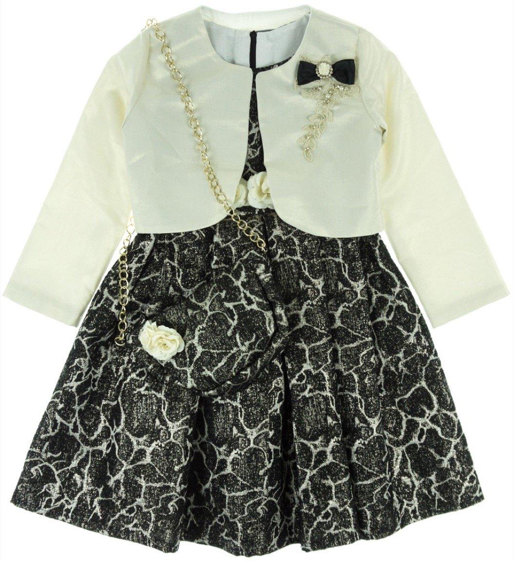Seker παιδικό αμπιγιέ φόρεμα & ζακέτα μπολερό «Shiny»