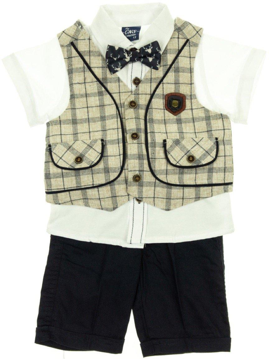 Ikra παιδικό αμπιγιέ σετ γιλέκο-πουκάμισο-παντελόνι «Classy»