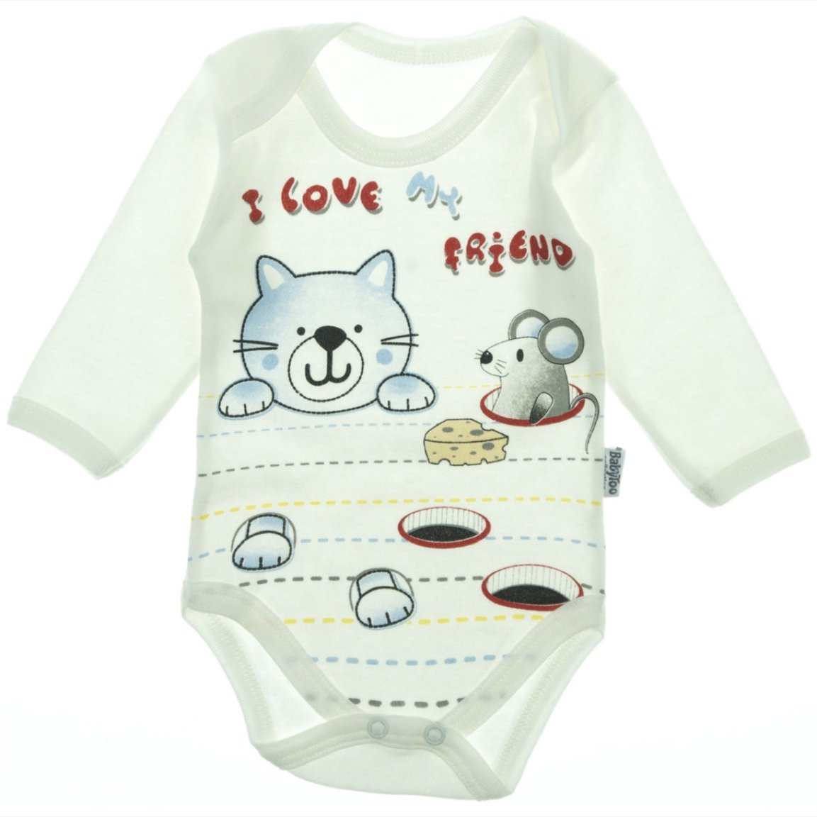 BabyToo βρεφικό κορμάκι «Blue Kitten»