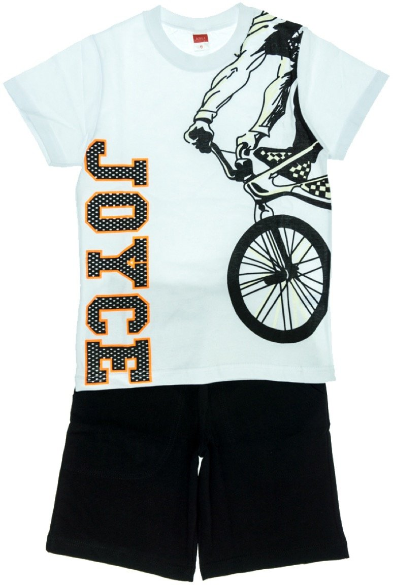 Joyce παιδικό σετ μπλούζα-παντελόνι βερμούδα «Bicycle»
