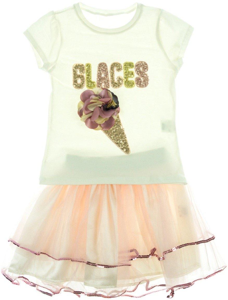 Blueberry's παιδικό σετ μπλούζα-φούστα «Glaces»