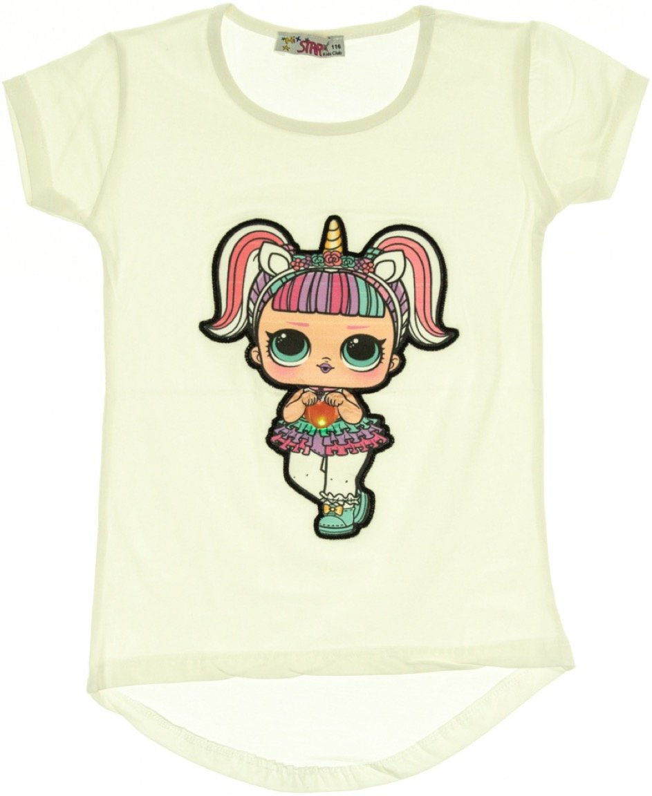 Mix Star παιδική μπλούζα με φωτάκια «White Missy»