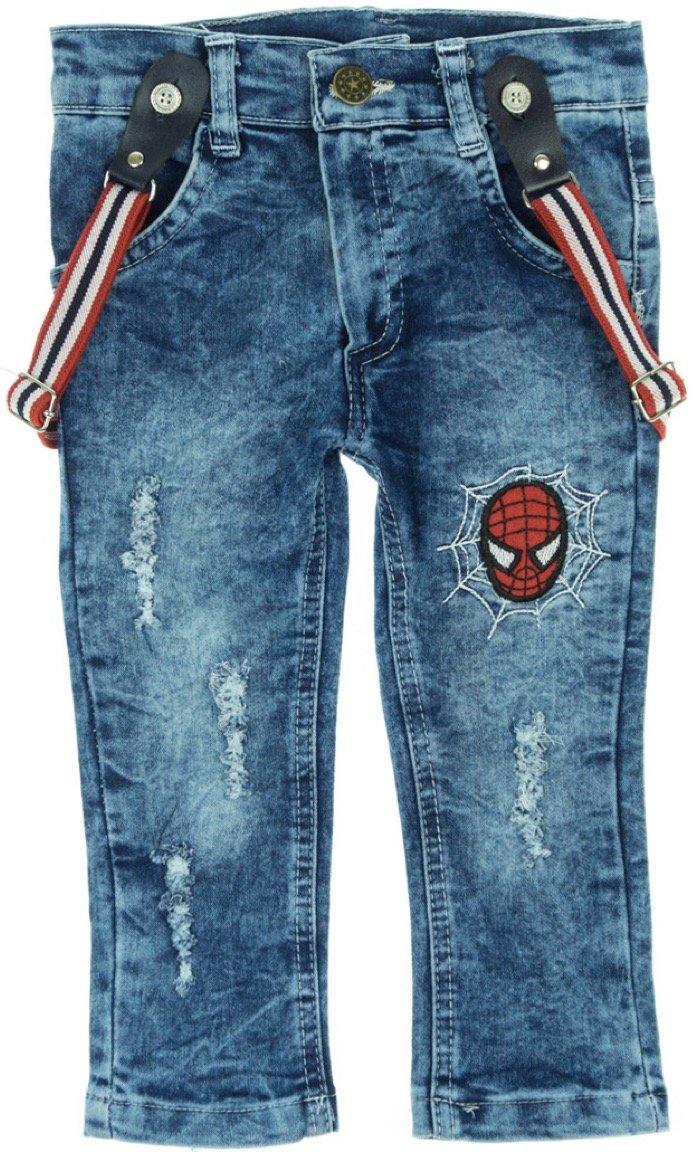 b27b27b4df9 Cemilino παιδικό παντελόνι τζιν με τιράντες «Spider Βoy» - Παιδικά ...