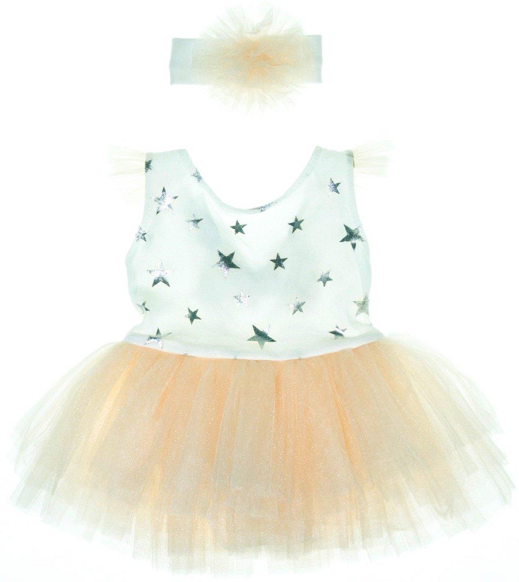Εβίτα βρεφικό κορμάκι με τούλι και κορδέλα «Ballerina Stars»