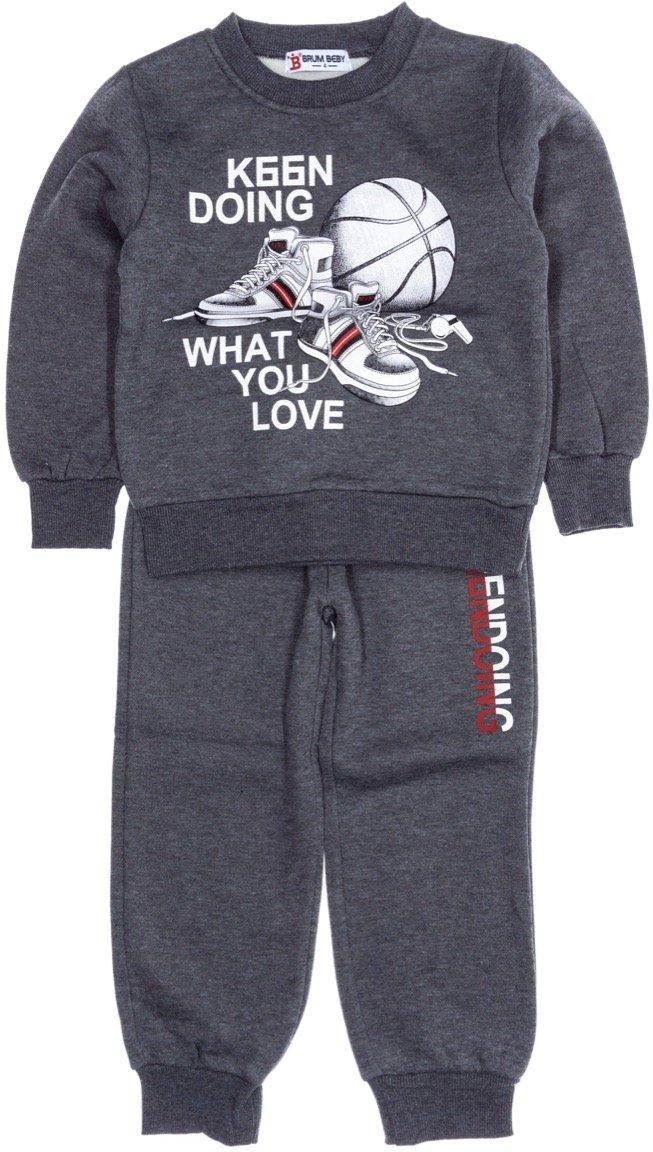 Brum παιδικό σετ φόρμα μπλούζα-παντελόνι «Do What You Love»