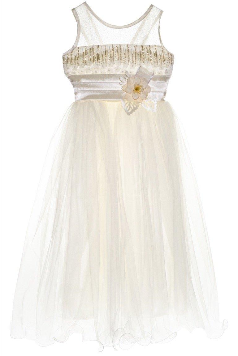 Ken Club παιδικό αμπιγιέ φόρεμα «Ivory Begonia»