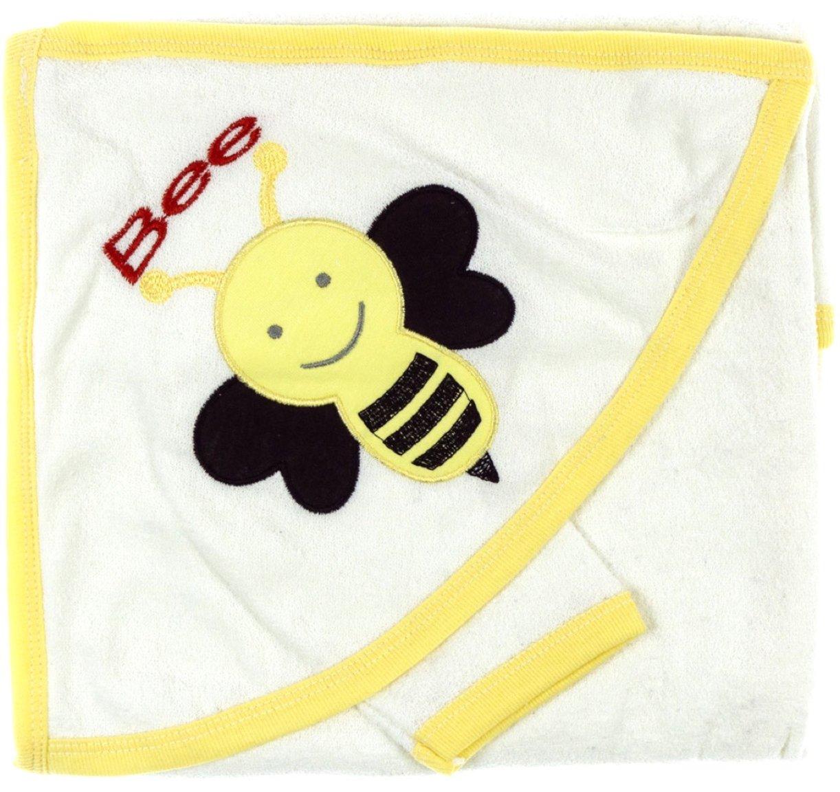 ΑΖ βρεφική μπουρνουζοπετσέτα & πανάκι μπάνιου «Bee You»