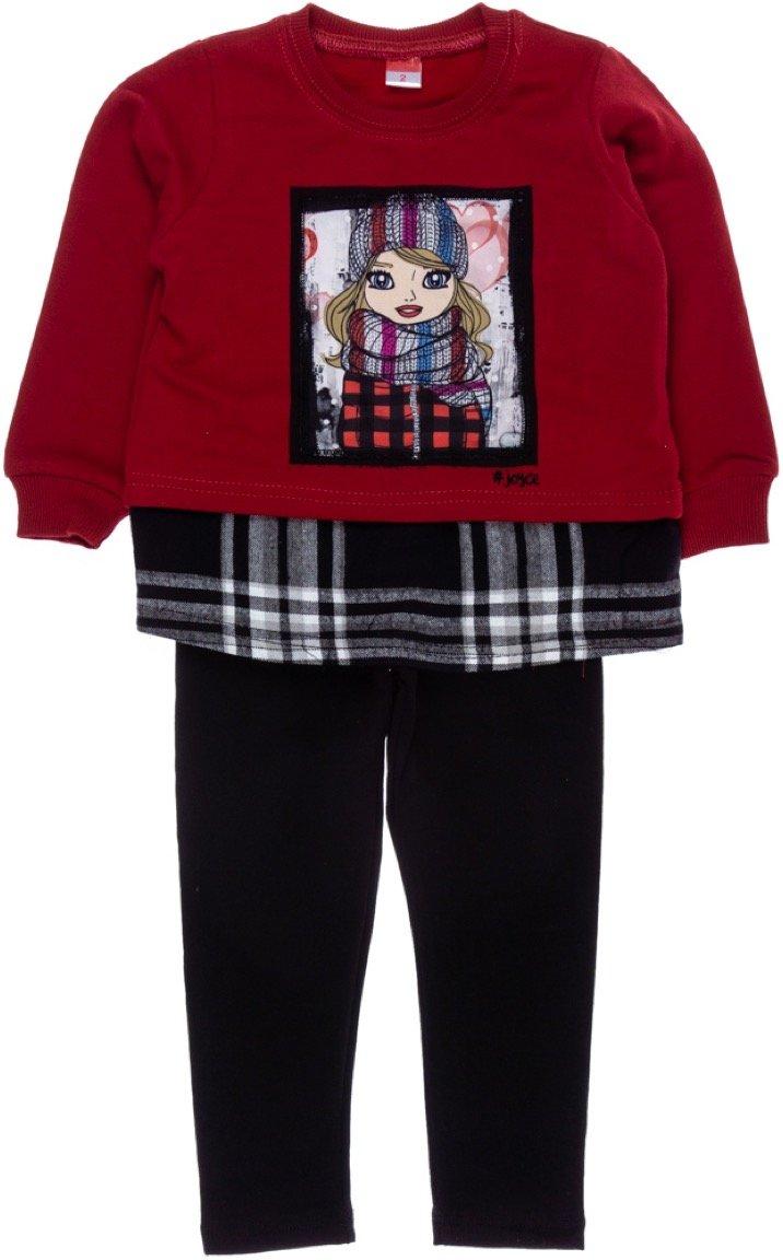 Joyce παιδικό σετ μπλούζα-παντελόνι κολάν «Cute Girl»