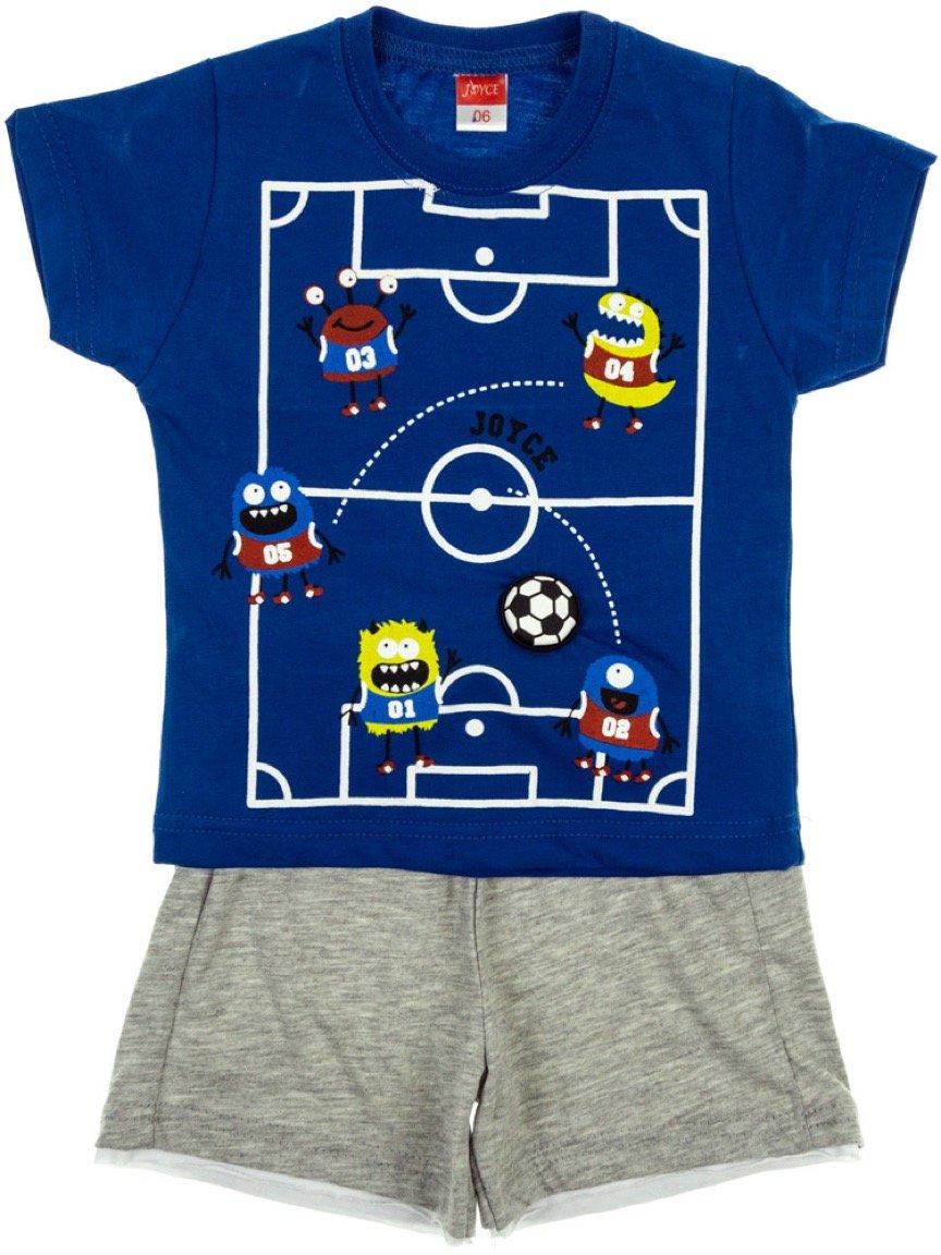 Joyce παιδικό σετ μπλούζα-παντελόνι σορτς «Monsters in The Field»