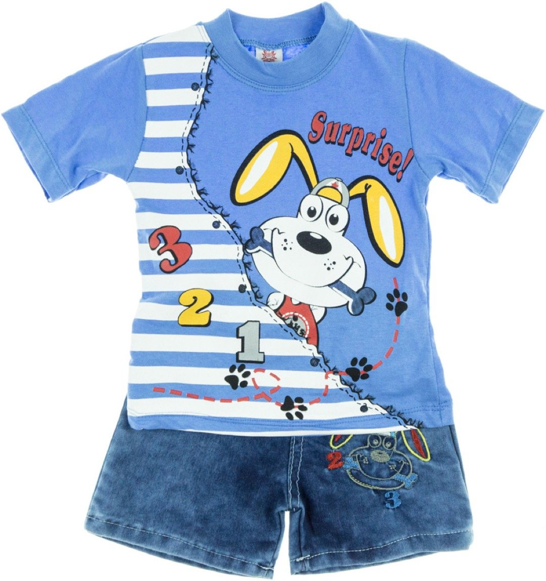 Bombicix παιδικό σετ μπλούζα-παντελόνι σορτς «Surprise Dog»