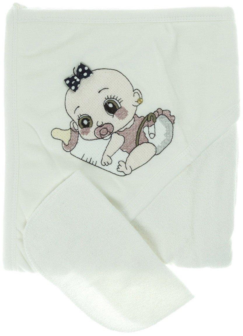 Babyline βρεφική μπουρνουζοπετσέτα & πανάκι μπάνιου «Newborn»