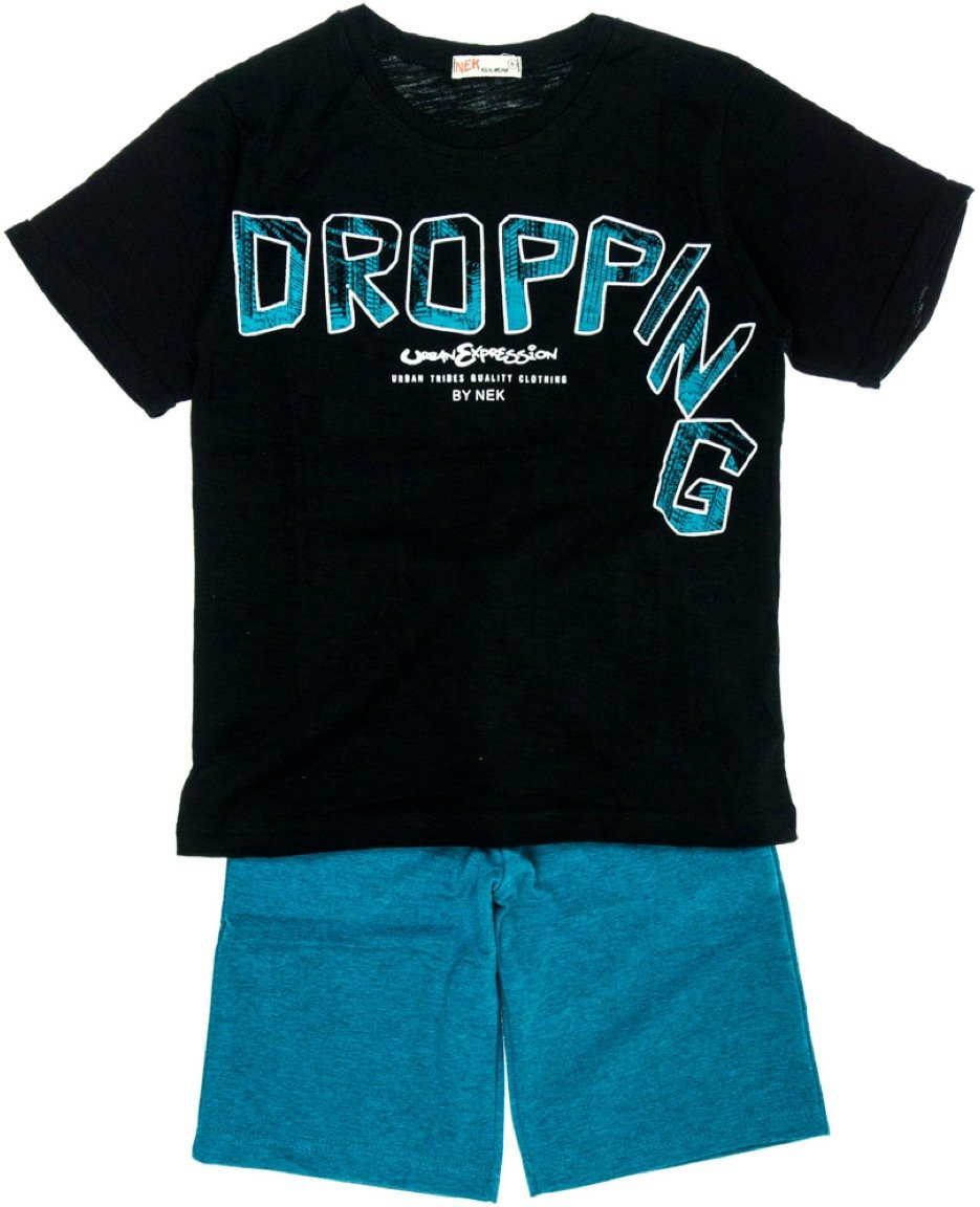 Nek παιδικό σετ μπλούζα-παντελόνι βερμούδα «Dropping»