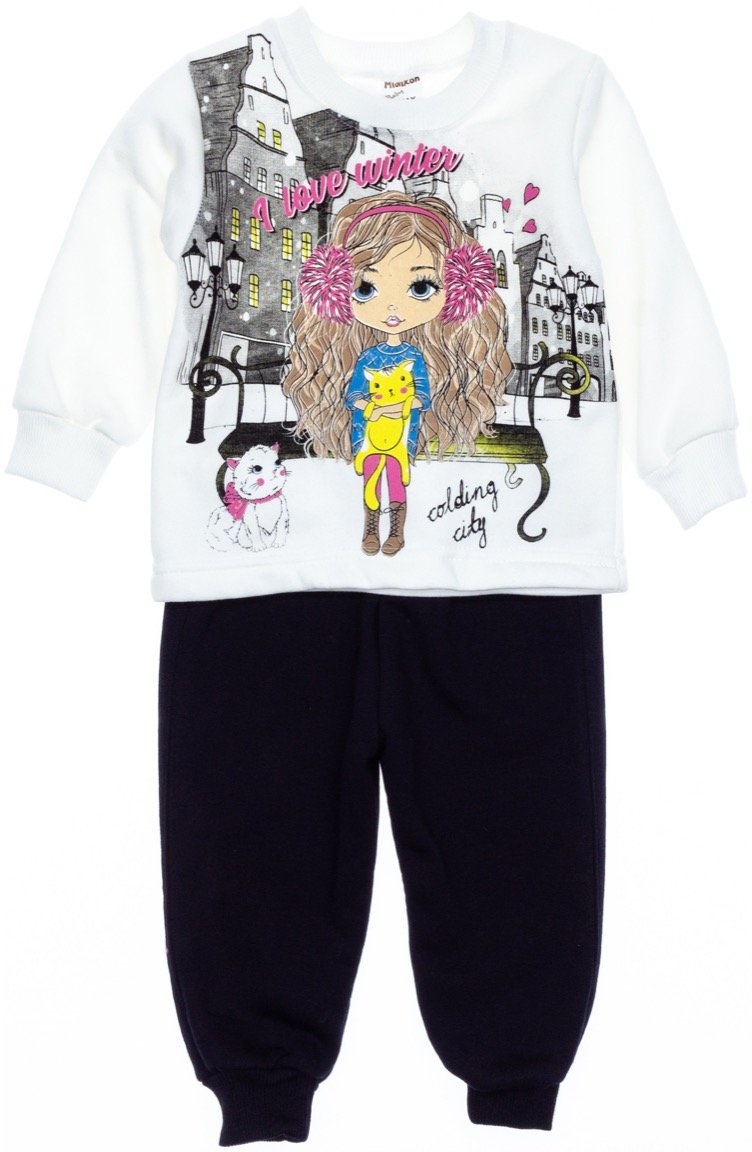 AZ παιδικό σετ φόρμα μπλούζα-παντελόνι «I Love Winter»