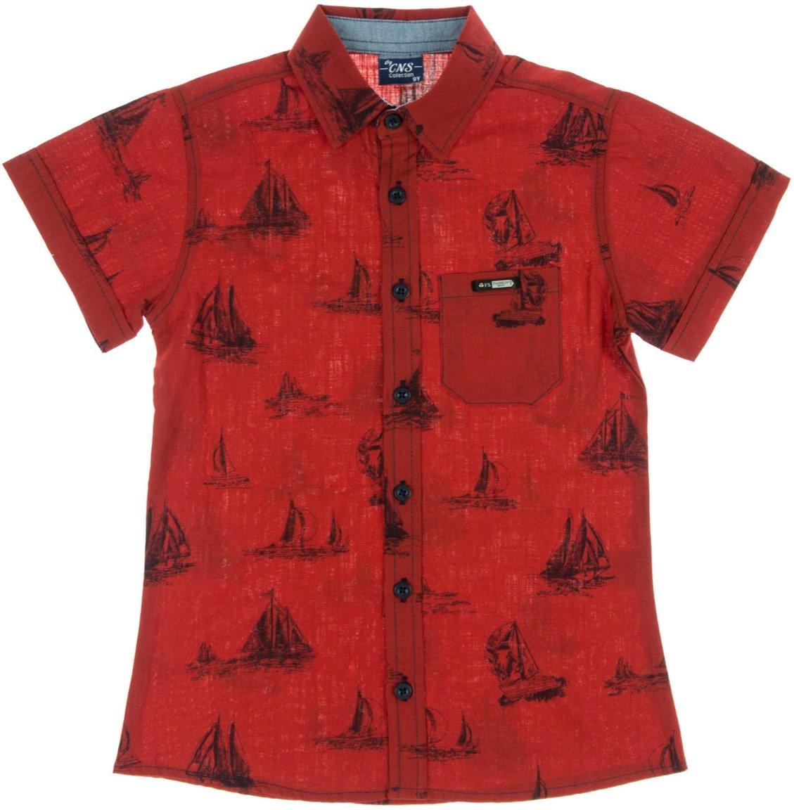 "CNS παιδικό πουκάμισο ""Red Sailing"""