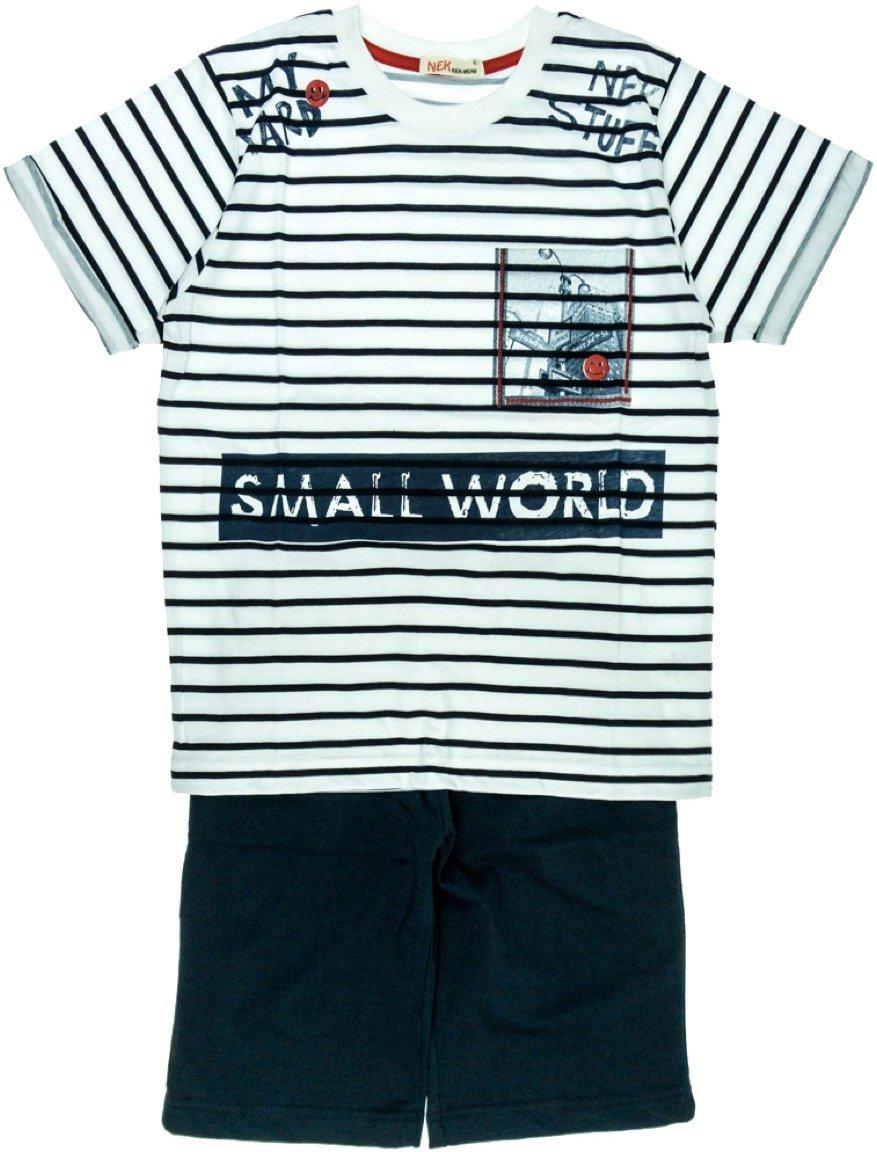 Nek παιδικό σετ μπλούζα-παντελόνι βερμούδα «Small World»