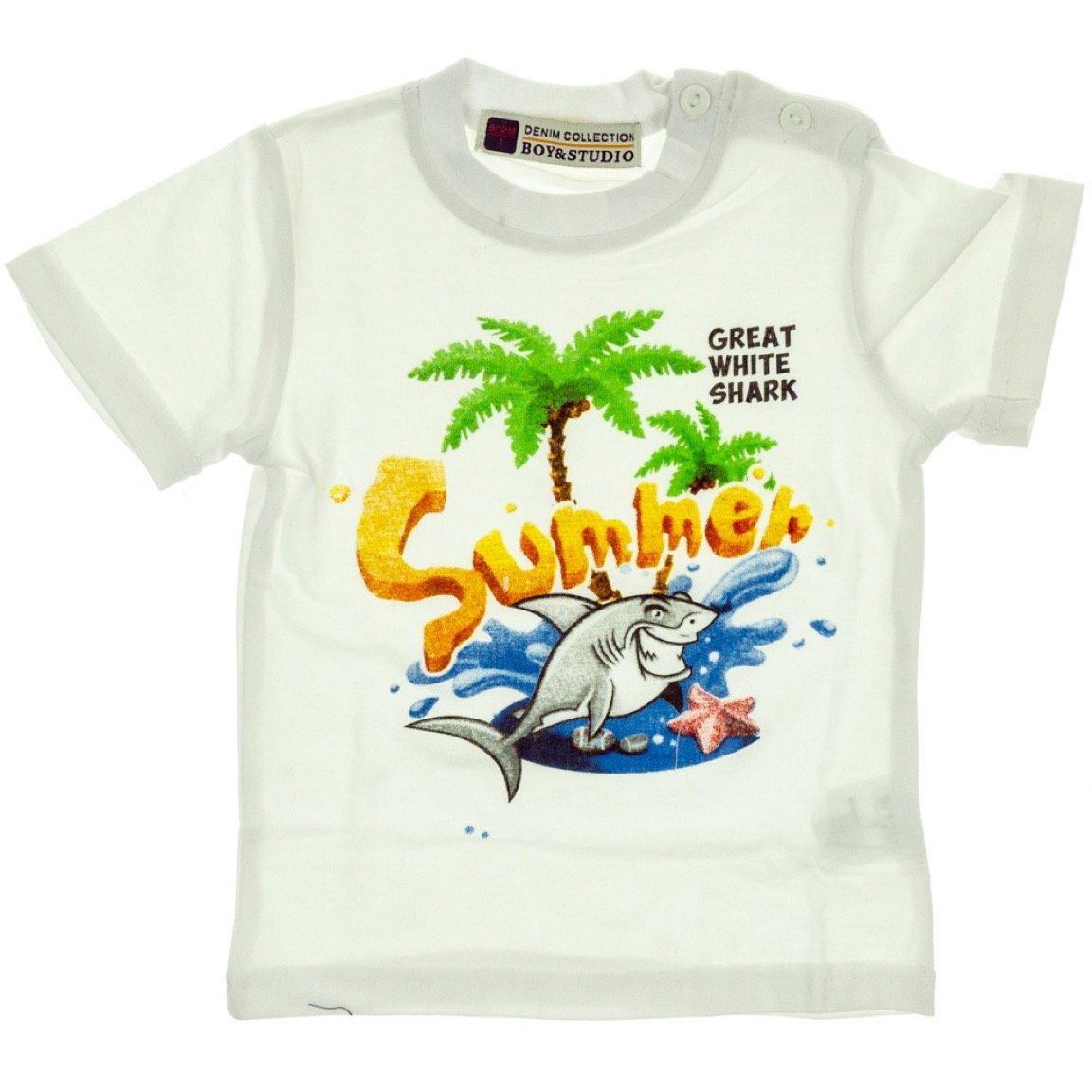 Boy & Studio βρεφική μπλούζα «White Summer»