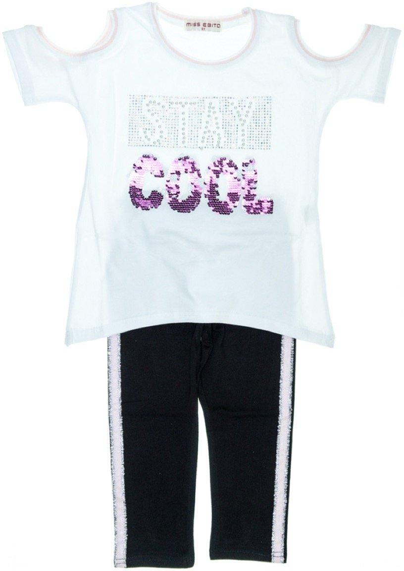 Εβίτα παιδικό σετ μπλούζα-παντελόνι κολάν κάπρι «Stay Cool»