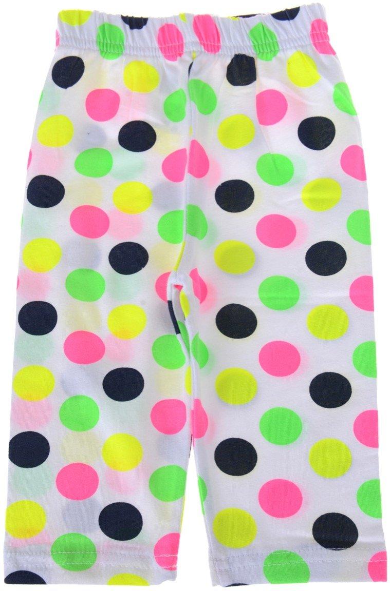 ΑΖ παιδικό παντελόνι κολάν κάπρι «White And Dots»