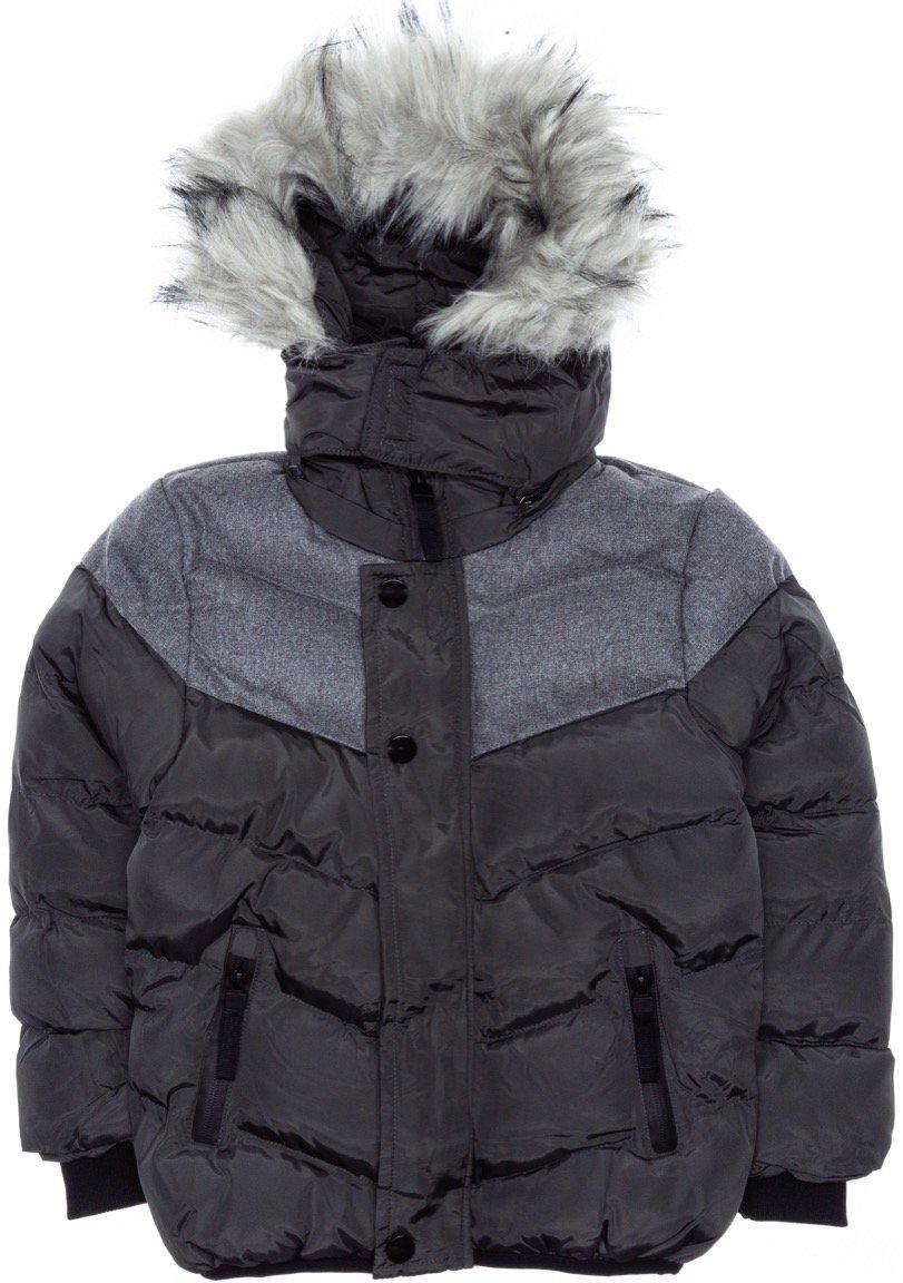 New Kids παιδικό μπουφάν με αποσπώμενη κουκούλα «Serious Grey»