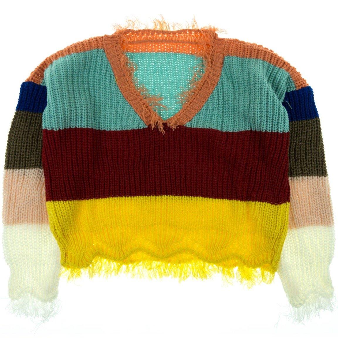 ΑΖ γυναικεία πλεκτή μπλούζα «Colorful Happiness»