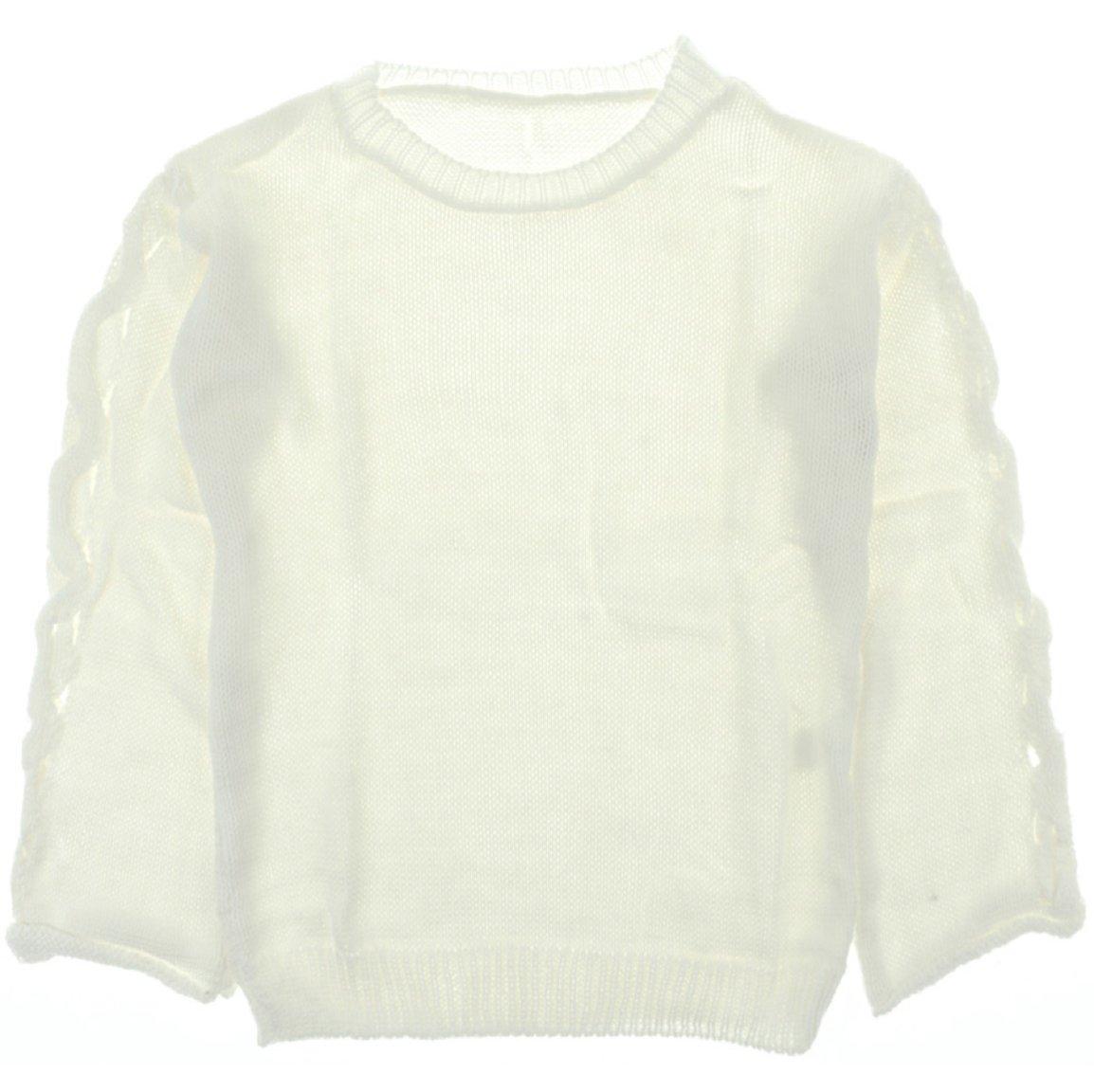 ΑΖ γυναικεία πλεκτή μπλούζα «Ecru Dressing Down»
