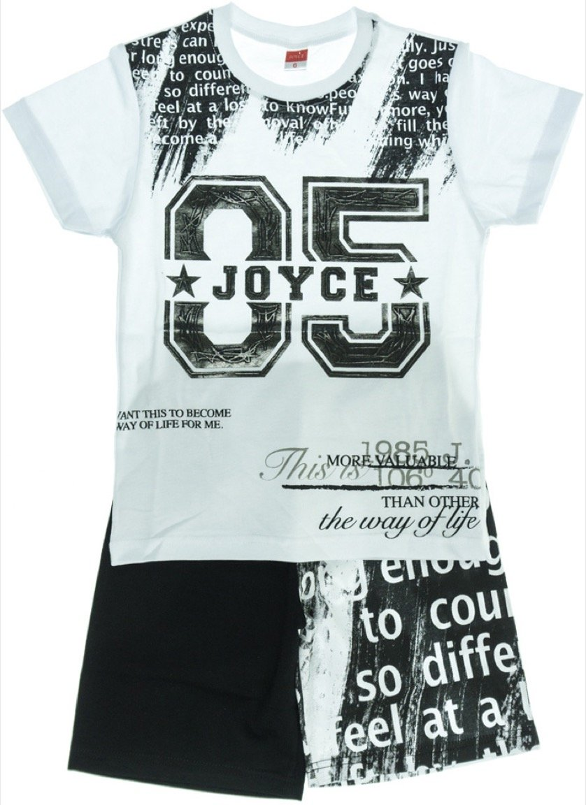 Joyce παιδικό σετ μπλούζα-παντελόνι σορτς βερμούδα «Life Way»