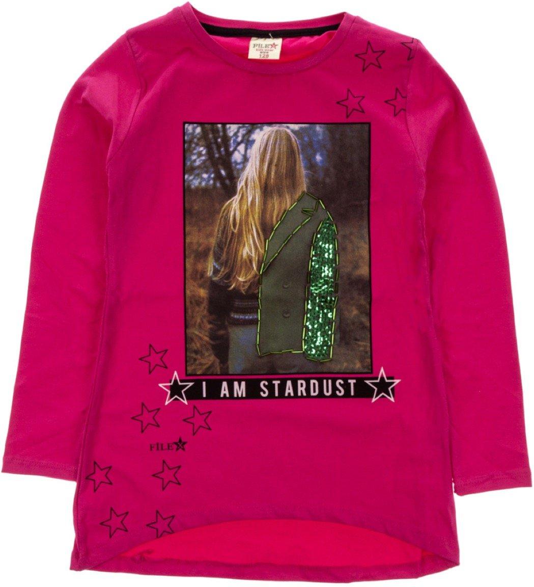 File παιδική εποχιακή μπλούζα «Fuchsia Stardust»