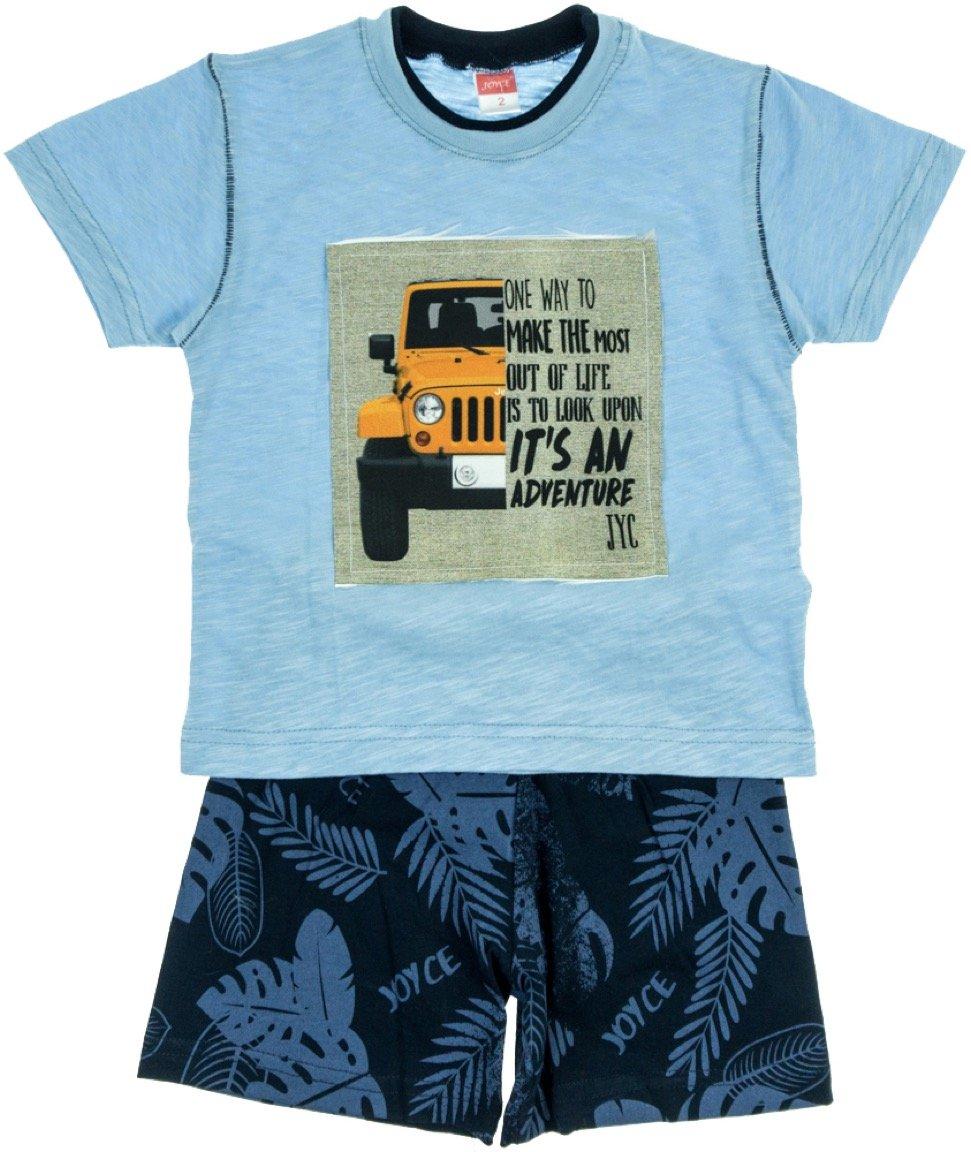 Joyce παιδικό σετ μπλούζα-παντελόνι σορτς «Blue Adventure»