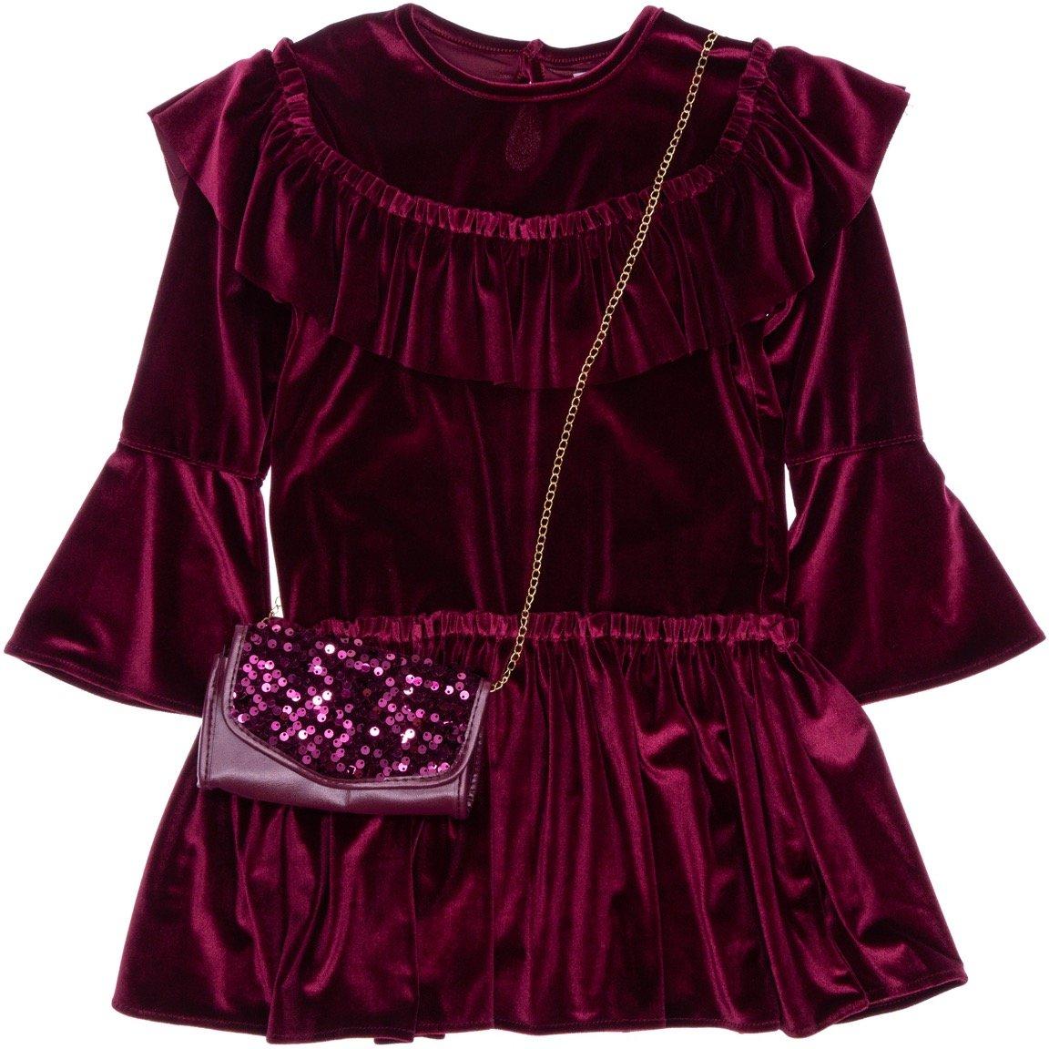 Εβίτα παιδικό αμπιγιέ βελουτέ φόρεμα «Chic Velour»