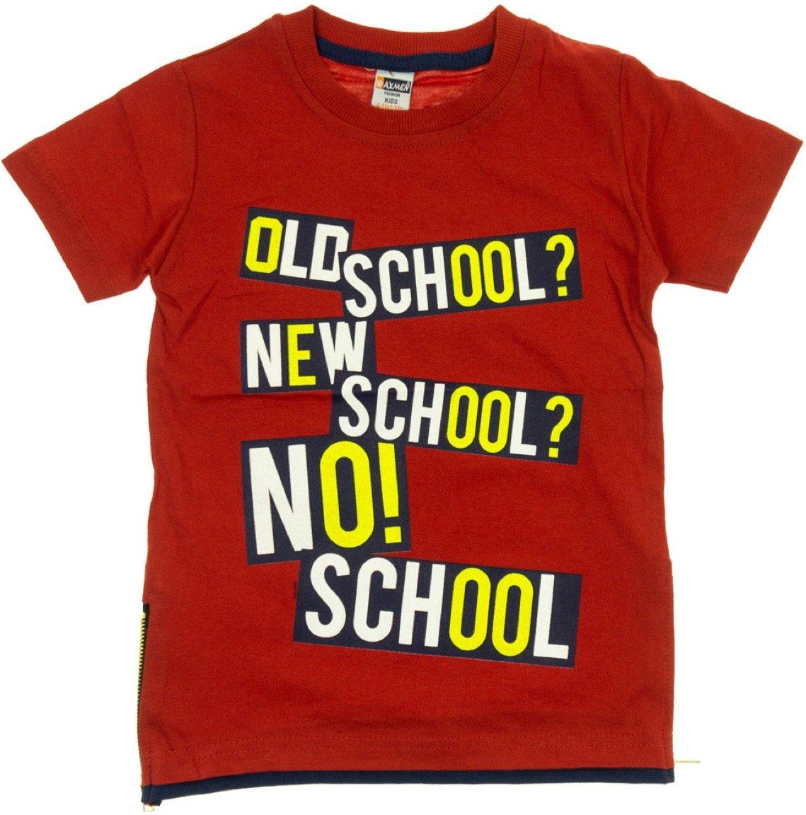 Waxmen παιδική μπλούζα «Red No School»