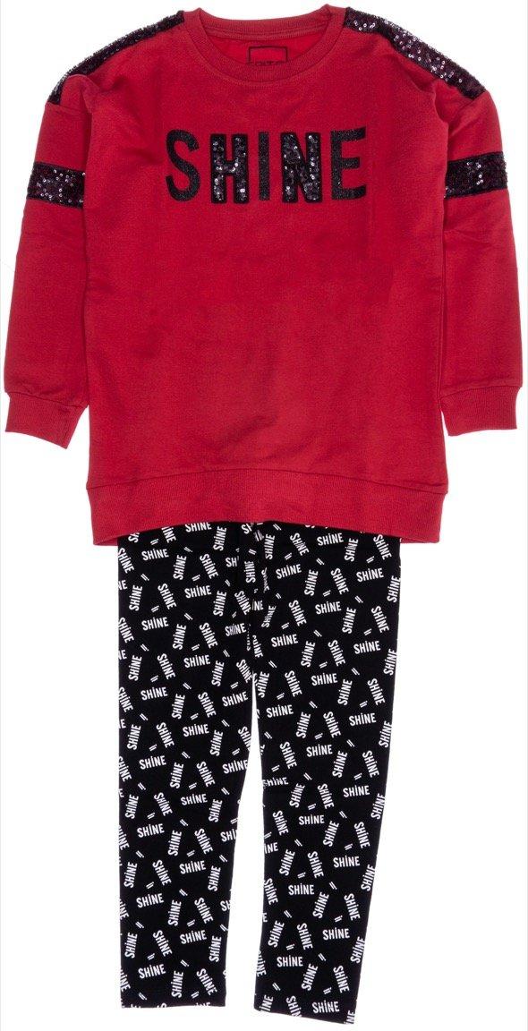 Εβίτα παιδικό εποχιακό σετ μπλούζα-παντελόνι κολάν «Shine»