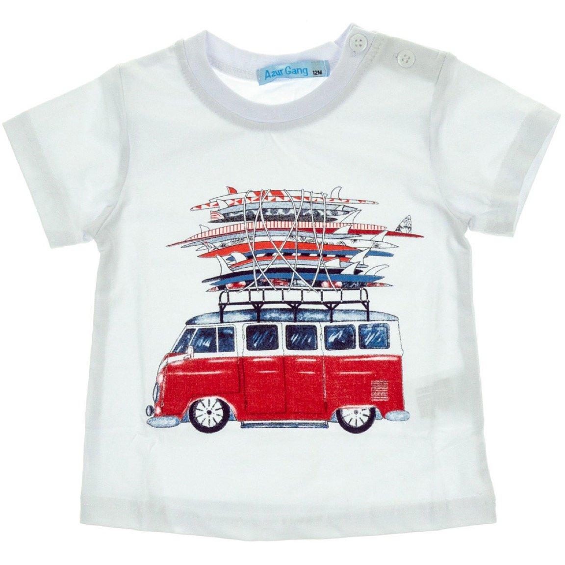 Azur Gang παιδική μπλούζα «White Bus»
