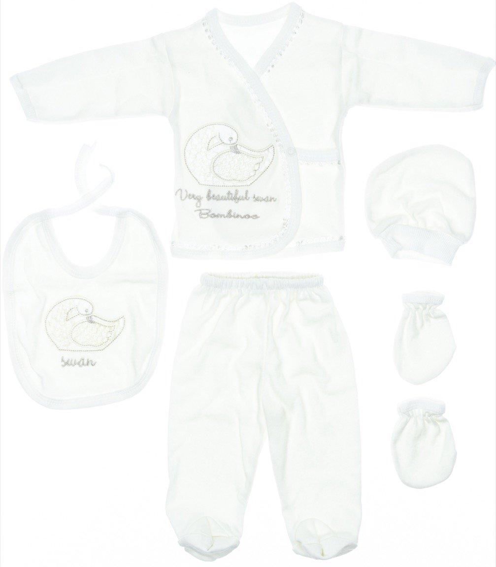 Bombinoo βρεφικό εποχιακό σετ δώρου πέντε τεμαχίων «Beautiful Swan»