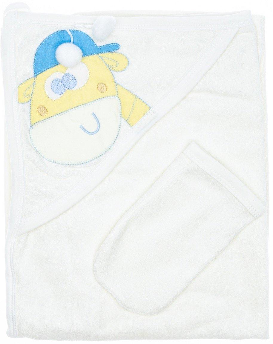 Story Baby βρεφική μπουρνουζοπετσέτα & γαντάκι μπάνιου «Giraffe Boy»