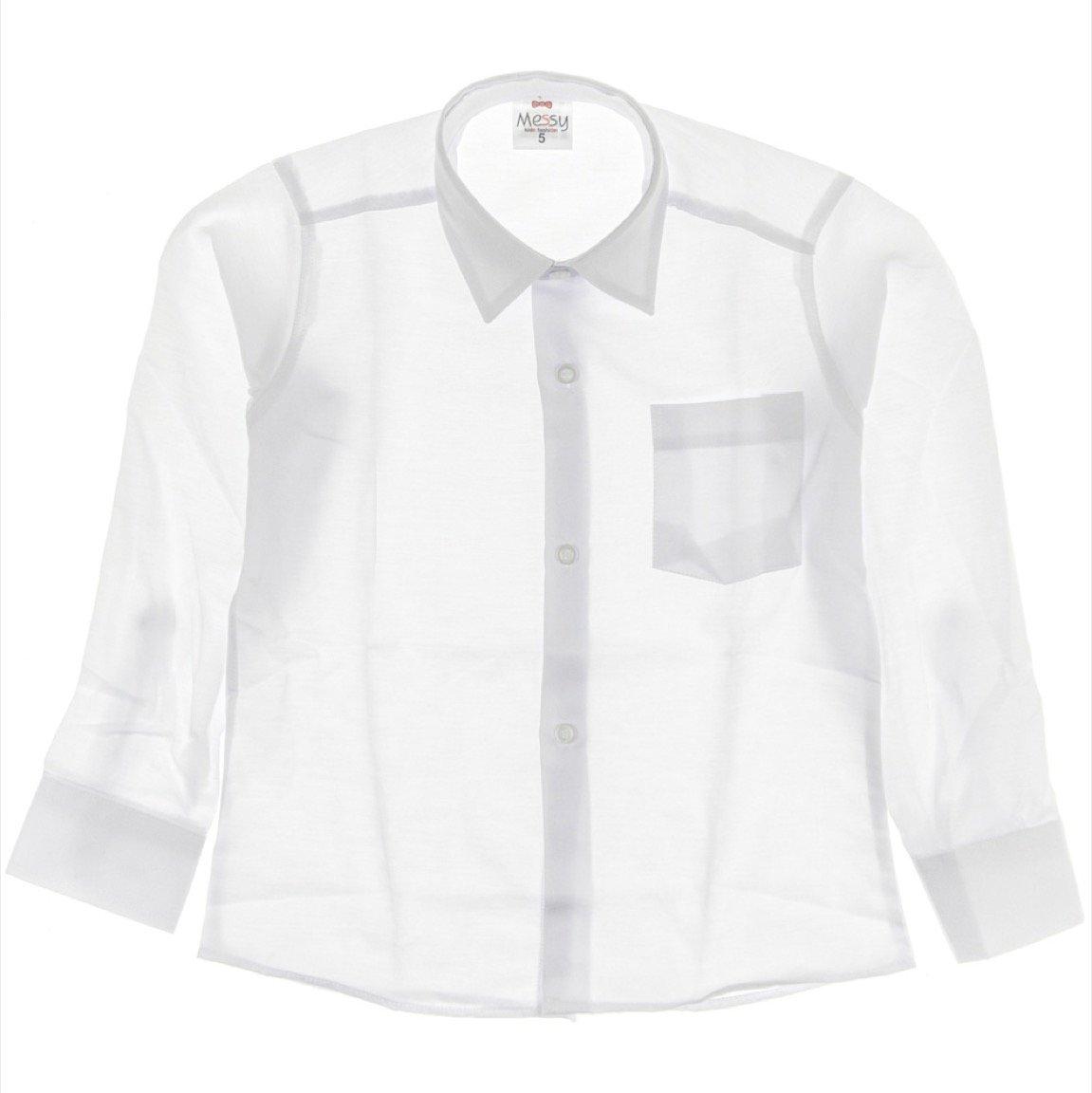 Messy παιδικό πουκάμισο λευκό «Celebrate»