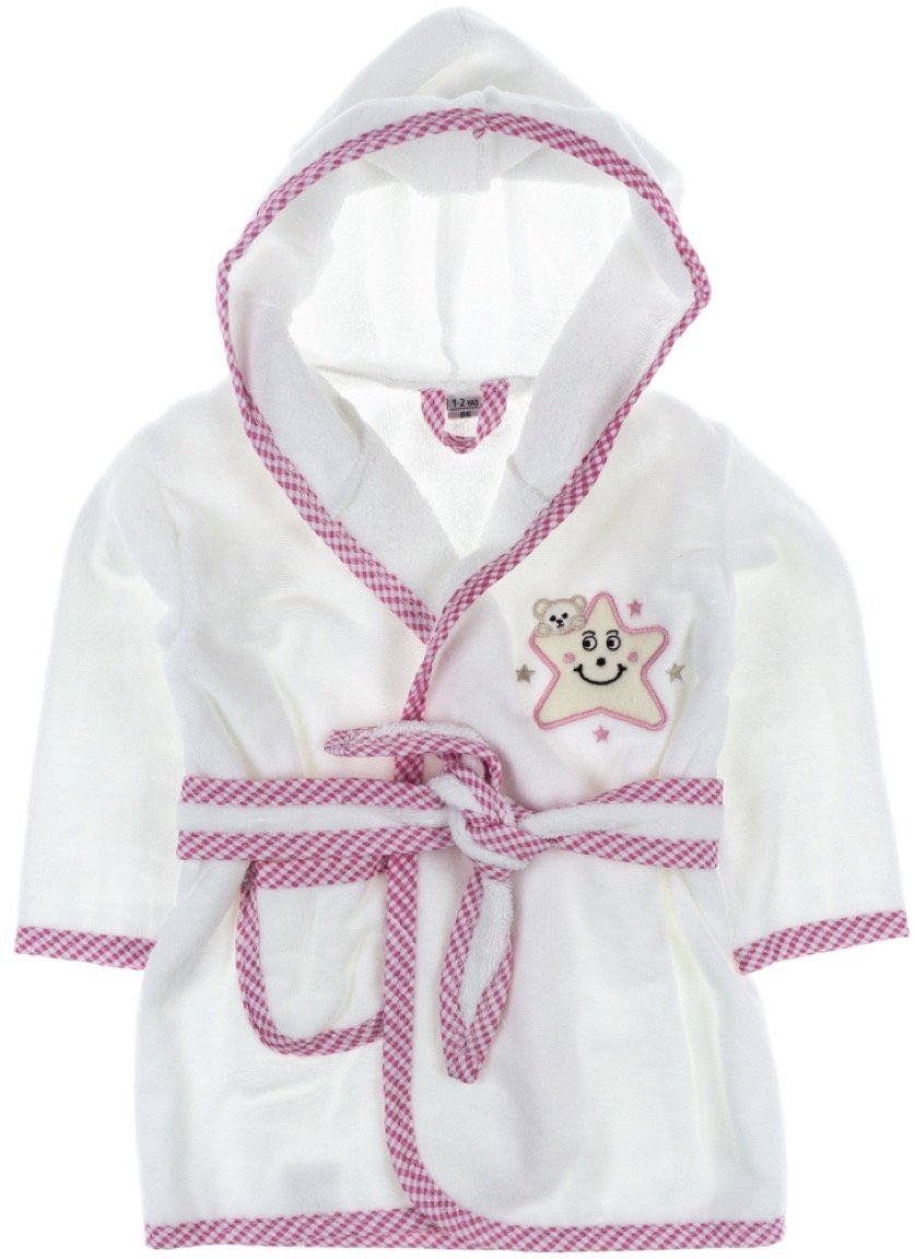 ΑΖ παιδικό σετ μπουρνούζι-πετσέτα-πανάκι μπάνιου «Pink»