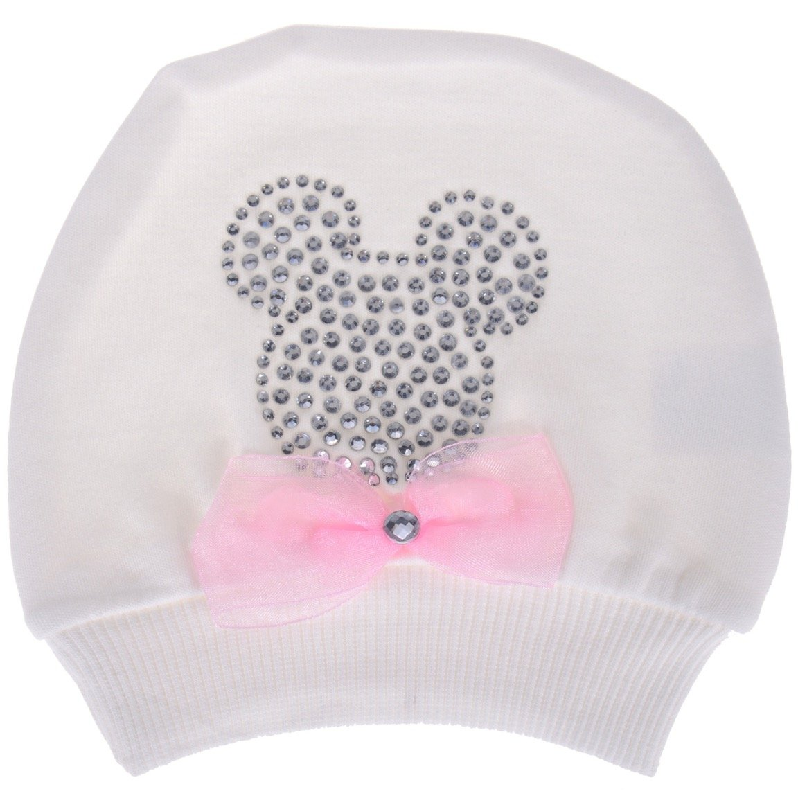 Akyuz βρεφικό σκουφάκι νεογνού «Ecru Mouse»