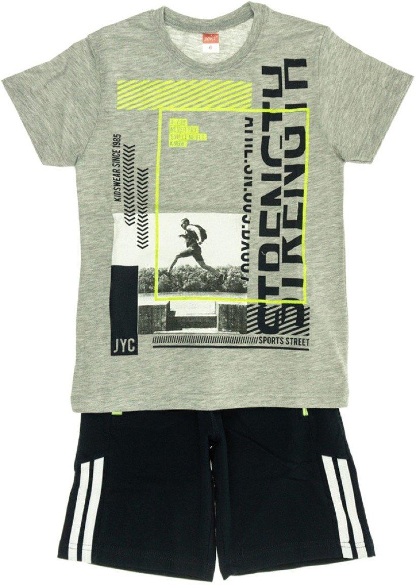 Joyce παιδικό σετ μπλούζα-παντελόνι βερμούδα «Strength»