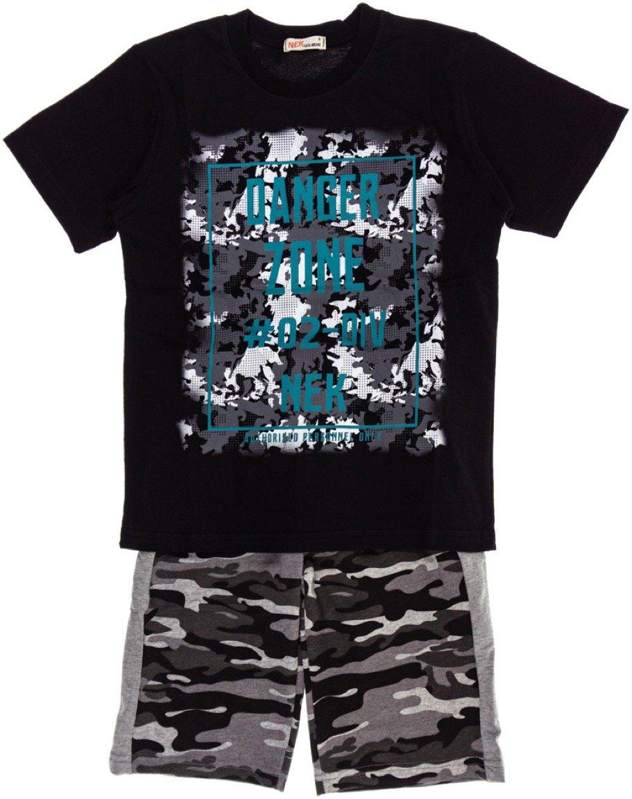 Nek παιδικό σετ μπλούζα-παντελόνι βερμούδα «Danger Zone»