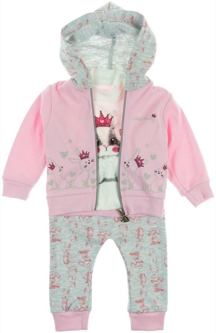 Vital παιδικό σετ ζακέτα-μπλούζα-παντελόνι «Queen Rabbit»