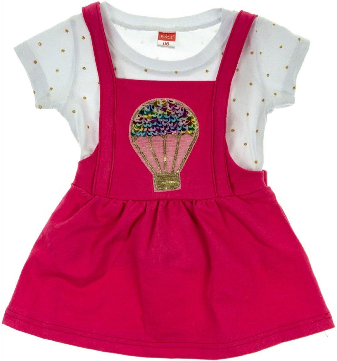 Joyce παιδικό σετ μπλούζα-φούστα σαλοπέτα «Aerostat»