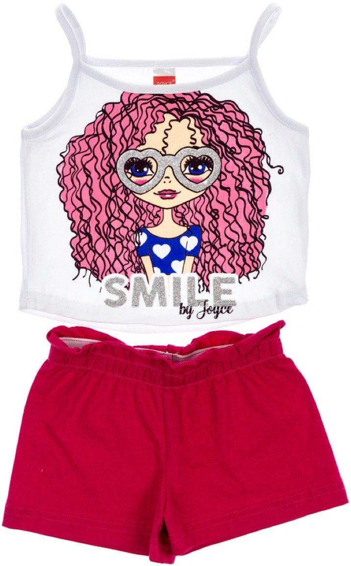 Joyce παιδικό σετ μπλούζα-παντελόνι σορτς «Smile»