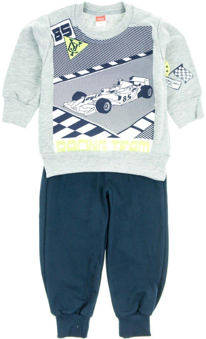Joyce παιδικό εποχιακό σετ φόρμα μπλούζα-παντελόνι «Grey Racing»